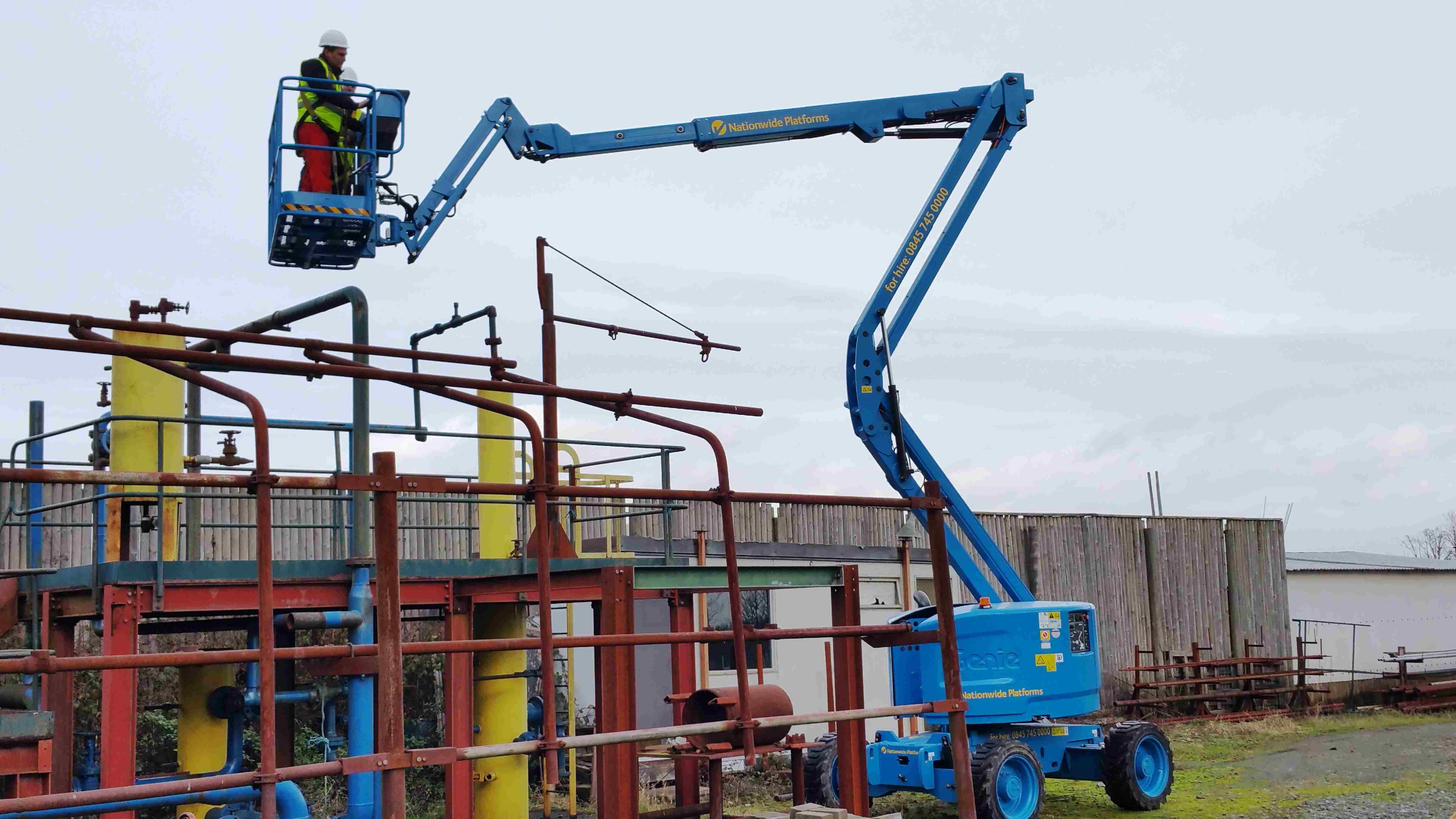 A MEWP (Mobile Elevated Work Platform) Refresher course taking place at our Centre